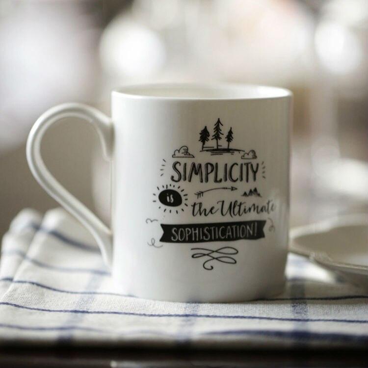 1 ks bílý hrnek na kávu, keramický čaj, hrnek, jemná kost, Čína, šálek kávy, porcelánové šálky a hrnky, domácí kancelář, mléčný čaj, pohár, nápoj, 350ML