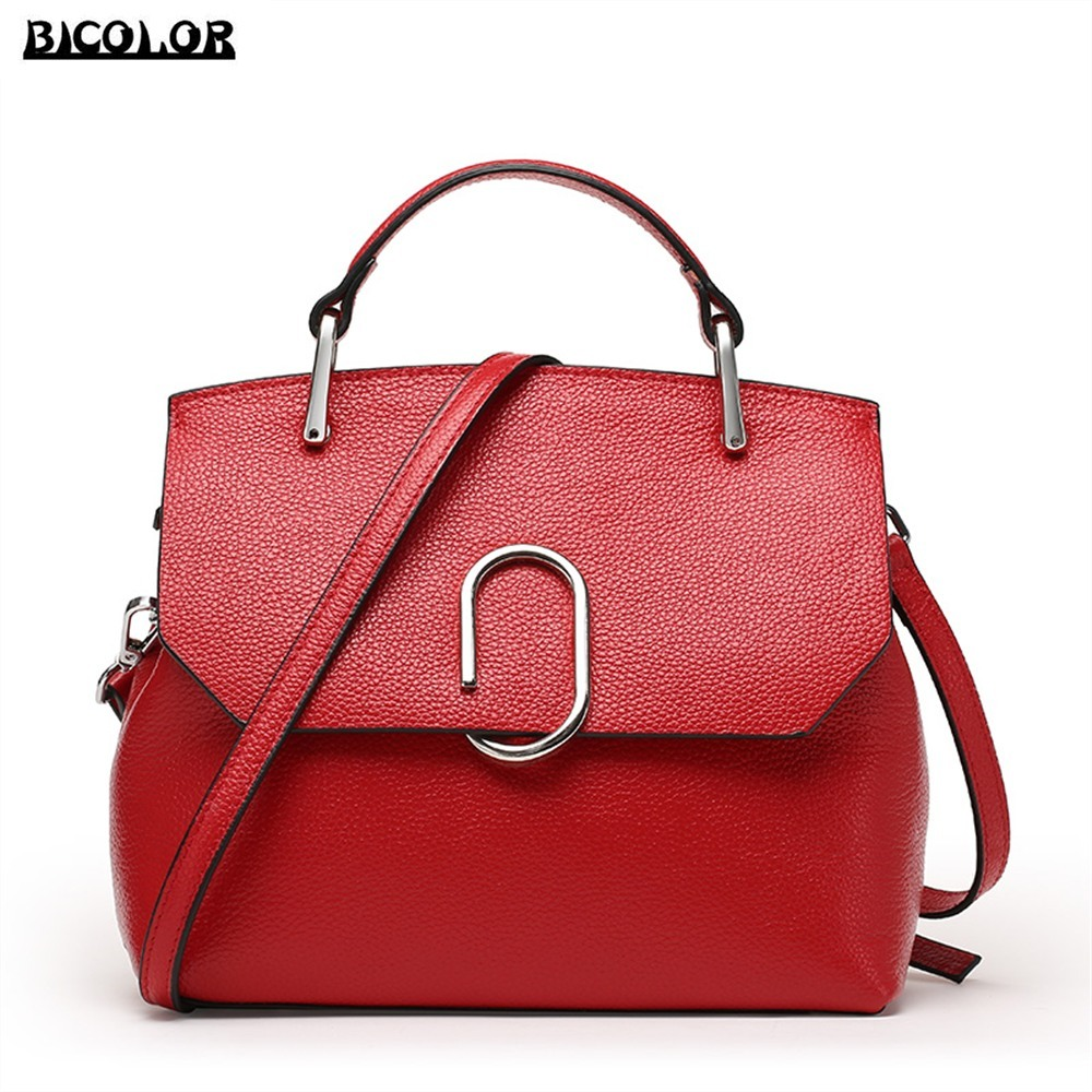 ФОТО BICOLOR Luxury Women Crossbody Bag Ladies Messenger bags for Women handbag real genuine leather Tote bag for girls Handbags New