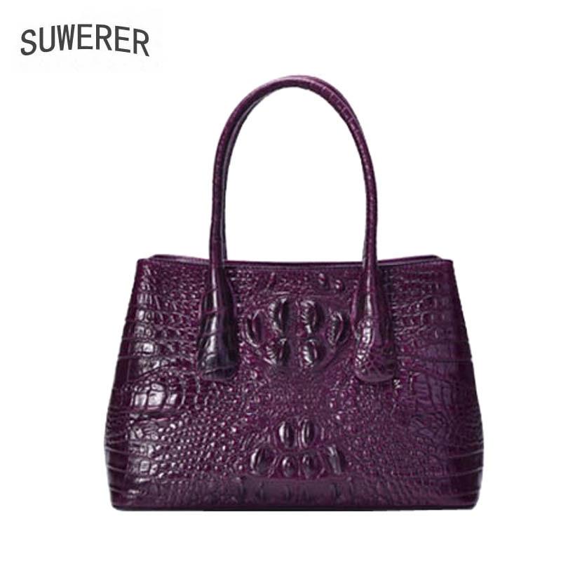 Motif Purple Vachette Crocodile Pour Suwerer red Sacs À Femmes Mode Main Luxe Véritable Nouvelles 2019 De En Cuir Haut qnP7TOwq