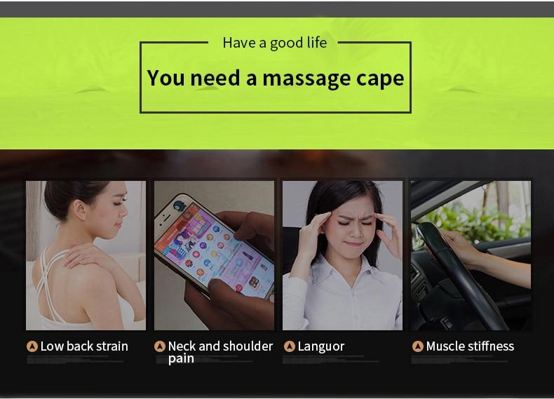 (with Gift Box)JinKaiRui U Shape Electrical Shiatsu Back Neck Shoulder Body Massager Infrared Heated Kneading CarHome Massagem 3