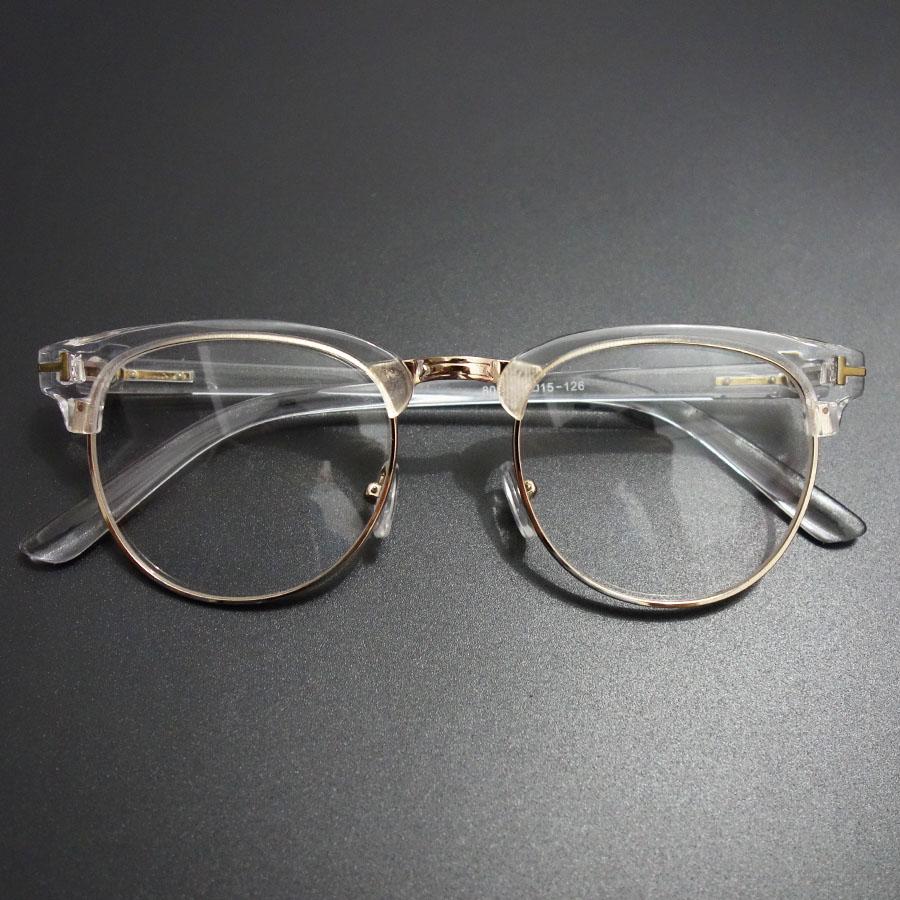 Vintage Glasses Clear Spectacle Eyeglasses Women Brand