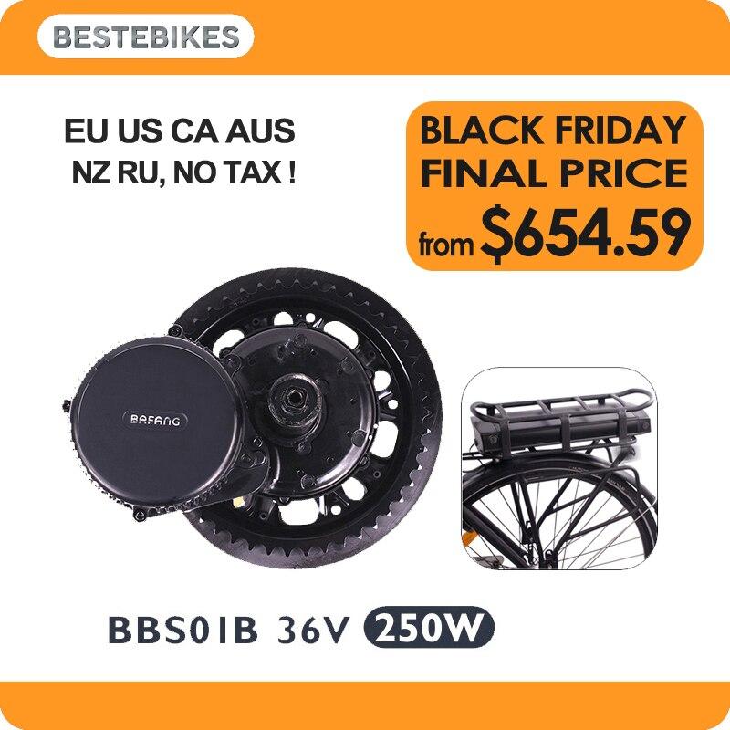 BBS01B 36 V 250 W bafang elektrische fiets elektrikli bisiklet bicicleta electrica rack trasero batería 36v17ah/20.4ah UE nos NO hay impuestos