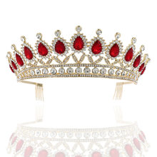 Big Crown Headwear Bride Wedding Tiara Bridal Makeup Headdress Princess Crown Wedding Hair Accessories Vintage Queen Crown(China)