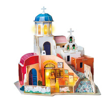 Handmade Creative Jigsaw Puzzle Fairy Tale Town Dollhouse Children Assembly Model Toys Adult Decoration Collection House цена