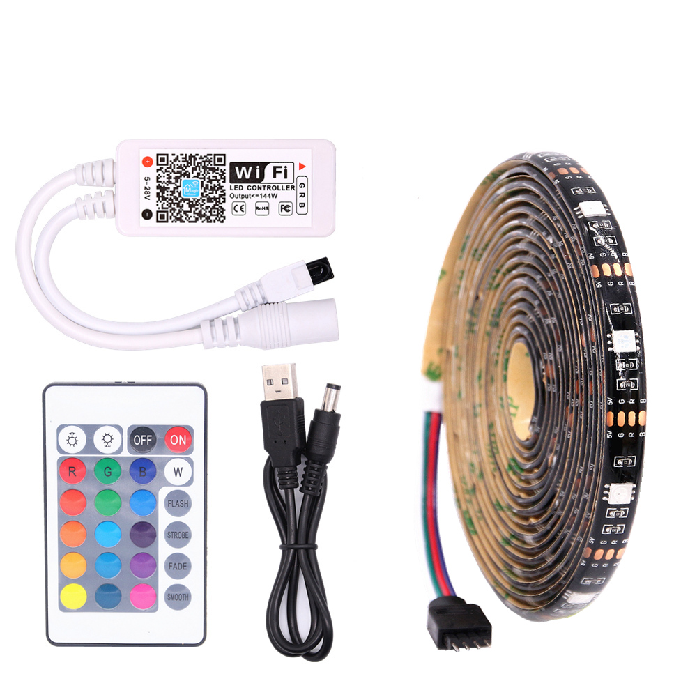 TV Backlight RGB LED Strip 5050 Waterproof 5V USB LED Tape String Bias lighting For HDTV Screen Desktop PC LCD Monitor Decor ring 5v 16 5050 rgb led with integrated drivers module for arduino led lighting strip