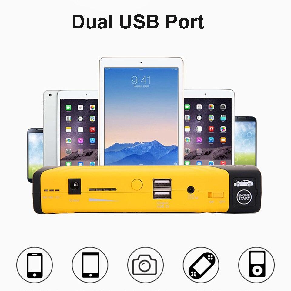 Muti-fonction Jump Starter 600A 16800 mah Haute Puissance Batterie Chargeur Double USB Véhicule Saut Démarreur Booster Voiture Départ dispositif - 3