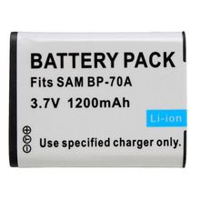 1 Pcs New 1200mah BP70A 70A BP-70A Li-ion Battery For SAMSUNG ES65 ES70 TL105 TL110 PL100
