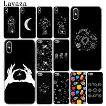Lavaza black white moon stars space astronautHard Phone Case for iPhone XR X XS 11 Pro Max 10 7 8 6 6S 5 5S SE 4S 4 Cover(China)