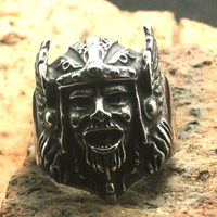 Size 7 To Size 15 Men Boy 316L Stainless Steel Cool Classic Punk Gothic Vikings Skull Ring
