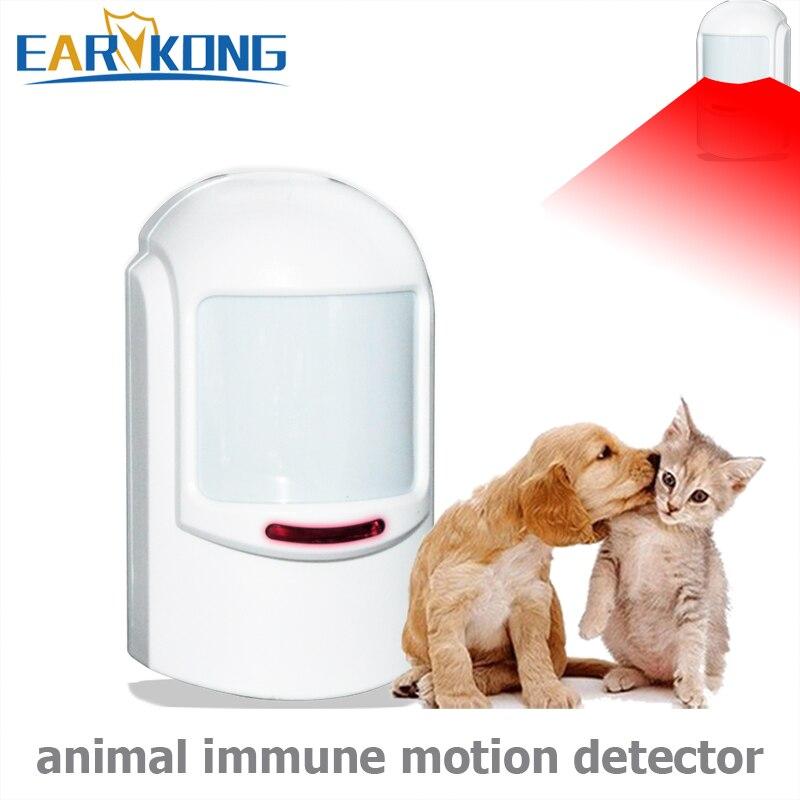 433 MHz Drahtlose PIR Pet Immunität Sensor, Infrarot Detektor, motion Sensor Alarm Entwickelt Für Unter 12 kg Pet Immunität, Home Alarm