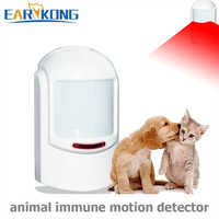 433MHz Wireless PIR Pet Immunity Sensor, Infrared Detector, Motion Sensor Alarm Designed For Below 12kg Pet Immunity, Home Alarm