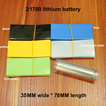 Lote de 100 unidades de baterías de litio de PVC, película termorretráctil de PVC, película de embalaje retráctil para la piel, funda aislante para baterías 1