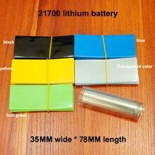 100pcs/lot 21700 lithium battery PVC heat shrinkable film skin packaging shrink sleeve insulating