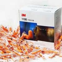 3 M 1100 Kugel Typ Schaum Ohrstöpsel Anti-lärm Dämpfung Schlaf Ohr stecker Orange GM0830