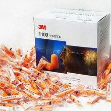 3M 1100 zatyczki do uszu w kształcie naboju z pianki anty hałas redukujący śpiącą zatyczka do uszu pomarańczowy GM0830