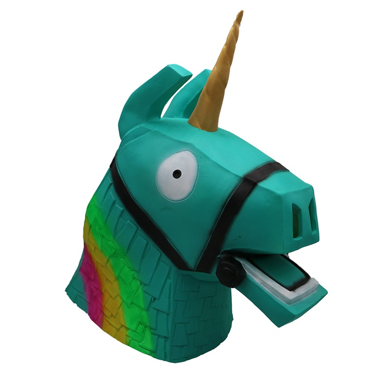 Halloween Mask Men Women  Full Face Rainbow Horse Party Cosplay Costume Funny Adult Props For Carnival Theme Game