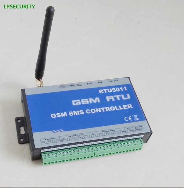 LPSECURITY M2M controller RTU5011 4AD input,8 Digital input,8 Digital outputs/GSM alarm system controller