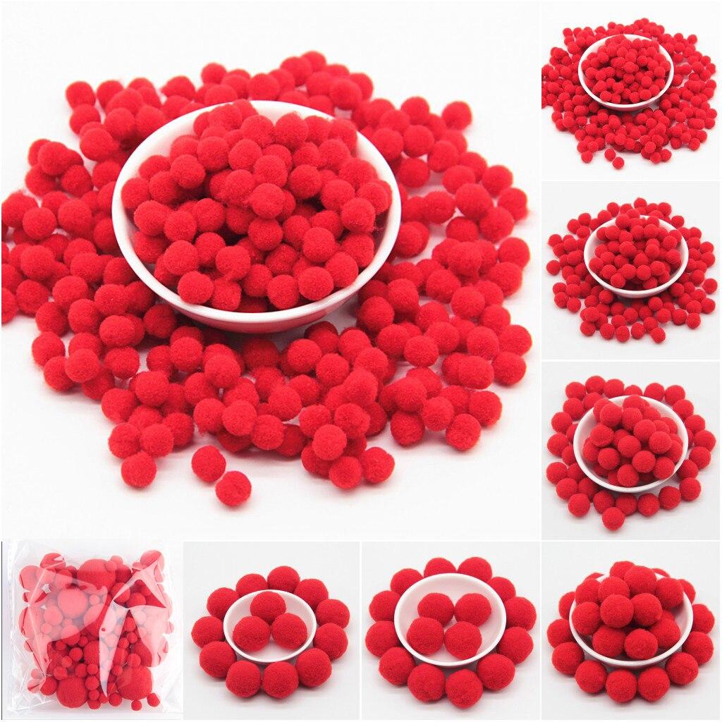 25 30 Www Bing Com: Red Pompoms 8/10/15/20/25/30mm Pom Pom Fur Ball Craft DIY