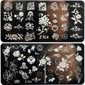 1 Pcs New Arriving ZJ Series 6*12CM Flower Nail Stamping Plates Konad Stamping Nail Art Manicure Template Nail Stamp Tools