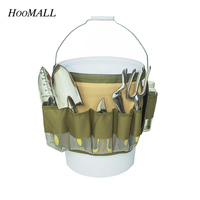 Hoomall 600D Oxford Canvas Durable Hardware Storage Tool Bag Multifunction Pocket Garden Working Waist Belt Organizer Bag