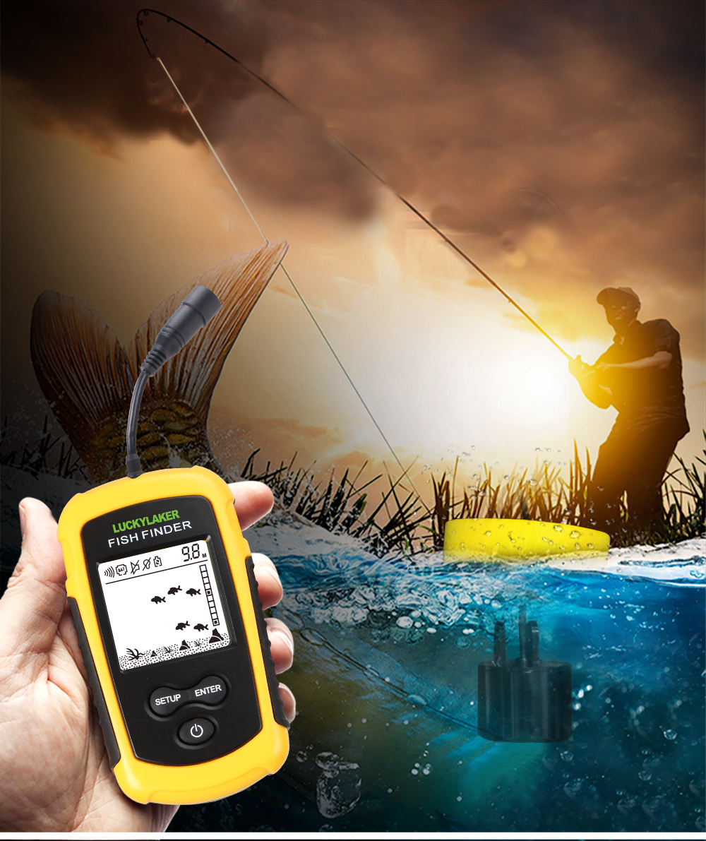 Sorte portátil sonar inventor de peixes fishfinder