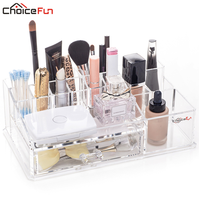 CHOICE FUN Stylish Plastic Cosmetic Organizer Acrylic Makeup