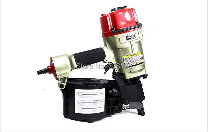 High Quality CN80 Industrial Pneumatic Coil Nailer Gun Tool Roofing Air  Nail Gun Machine(China