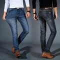 Odinokov Brand Men Jeans Size 28 To 42  Blue Stretch Denim Slim Fit Men Jean For Man Pants Trousers Jeans