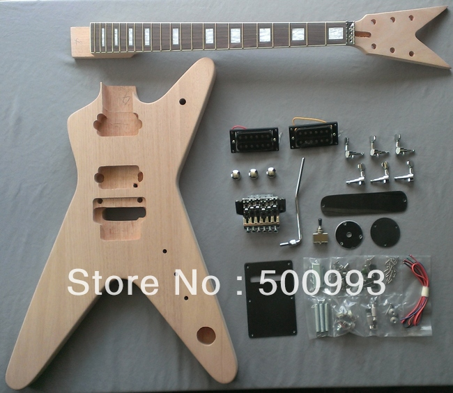 ml body style diy unfinished project luthier electric guitar kit in guitar from sports. Black Bedroom Furniture Sets. Home Design Ideas