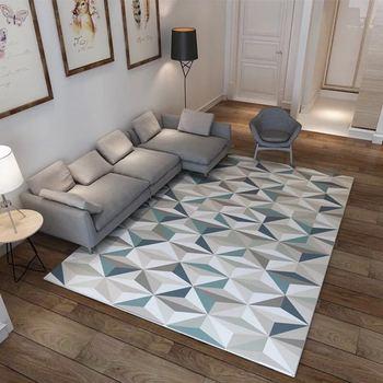 Alfombra nórdica geométrica 3D para sala de estar, Alfombras para el hogar,...