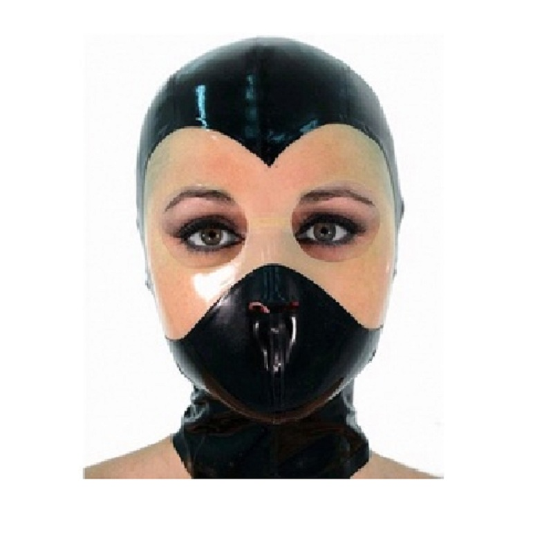Hats Hood New-Mask with Latex Cosplay Eyes Mouth Nostrils Including Back-Zipper Standard