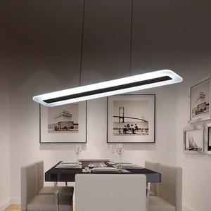 Image 3 - L40 120cm Modern Hanging Lamp for Kitchen Dinning Living Room led Pendant Lights Metal+acrylic Pendant Lamp Suspension Luminaire