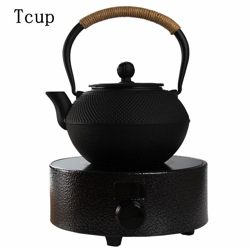 В японском стиле непокрытый железный горшок электрическая керамическая плита набор ручной чугунный вареный чайный чайник бытовой чайный н