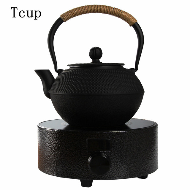 Anese Style Uncoated Iron Pot Electric Ceramic Stove Set Manual Cast Boiled Tea Teapot Household Free Shipping