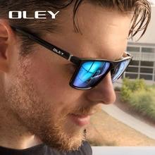 OLEY Brand Vintage Style Sunglasses Men Classic Male Square