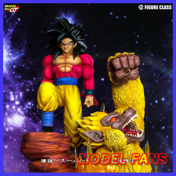 MODEL FANS IN-STOCK Dragon Ball 40cm Super saiyan 4 sonGoku gk resin statue contain led light figure for Collection model fans in stock 40cm one piece edward newgate fighting pose gk resin statue for collection