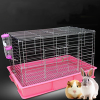 Electroplating anti spray urine rabbit cage Netherlands pig pet luxury villa lop ear rabbit breeding supplies ZP01031044