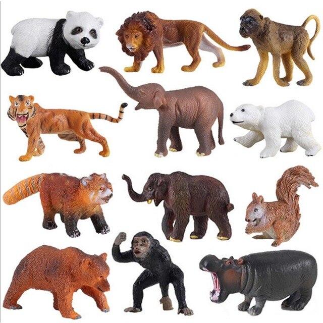 Conjunto de juguete modelo animal figuras de accin tigre len