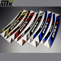 MTKRACING Motorcycle Inner Rim Decals Wheel Sticker Stickes Strips For SUZUKI GSXR150 GSXR250 GSXR400 GSXR600 GSXR750 GSXR1000