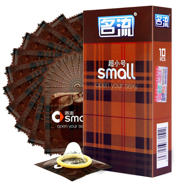 Mini 45mm Small Condoms For Men 10pcs/Lot Ultra-Thin Width penis sleeve Sex Products Tight Condones Sex Toys Preservativo