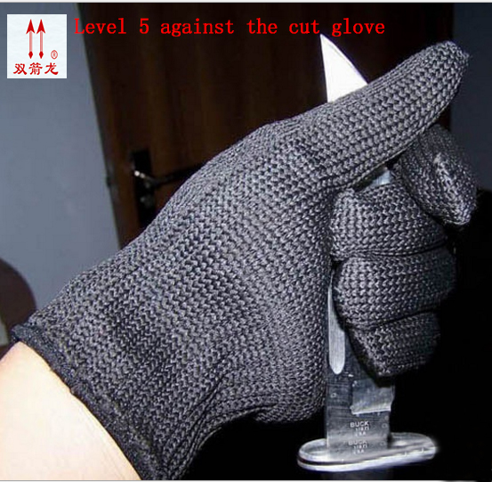 Europe and the authentic proof cut glove Cut against blade puncture-proof black cloth gloves gloves category 5 wire lobster glove stainless steel metal mesh shucking glove cut proof knife proof chain mail glove