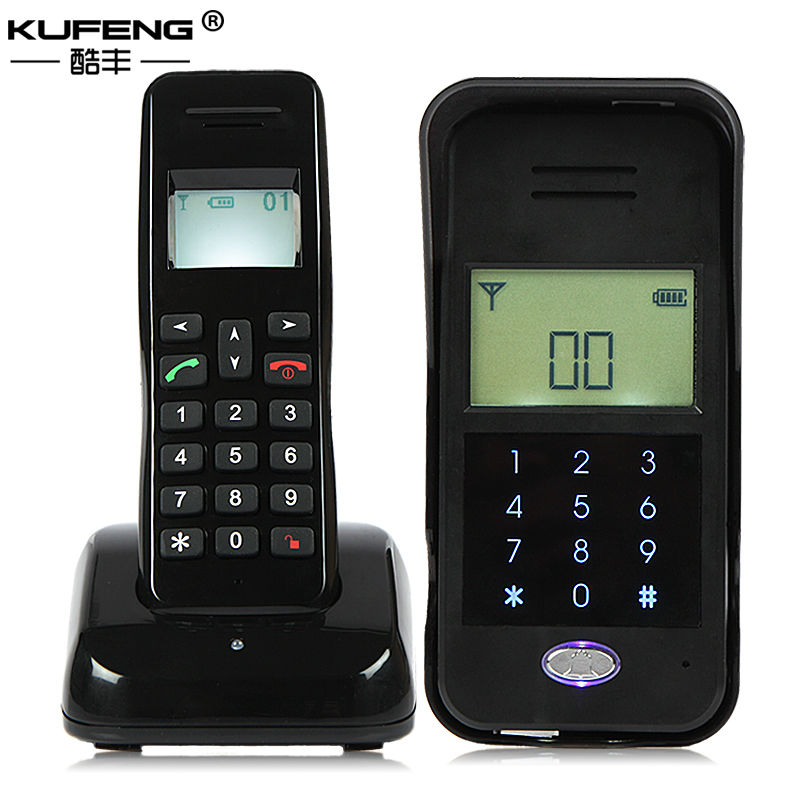 Freeshipping 2017 New hot Wireless Audio Intercom Non-Visual Intercom doorphone Handset Connected Electric Lock Remote Unlock freeshipping rs232 to zigbee wireless module 1 6km cc2530 chip