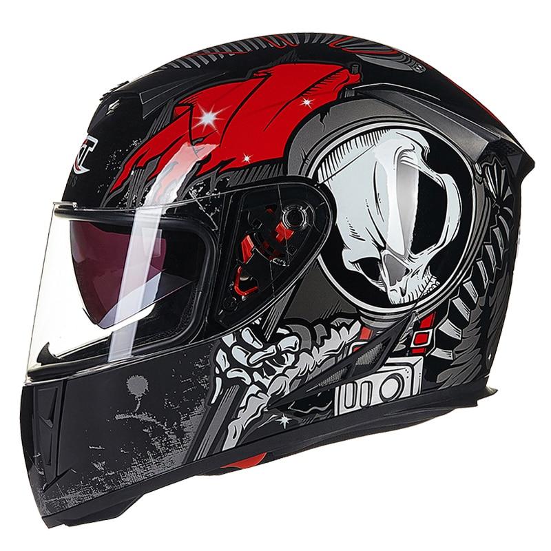 GXT 358-4 noir rouge couleur casques de moto casques complets accessoires de moto