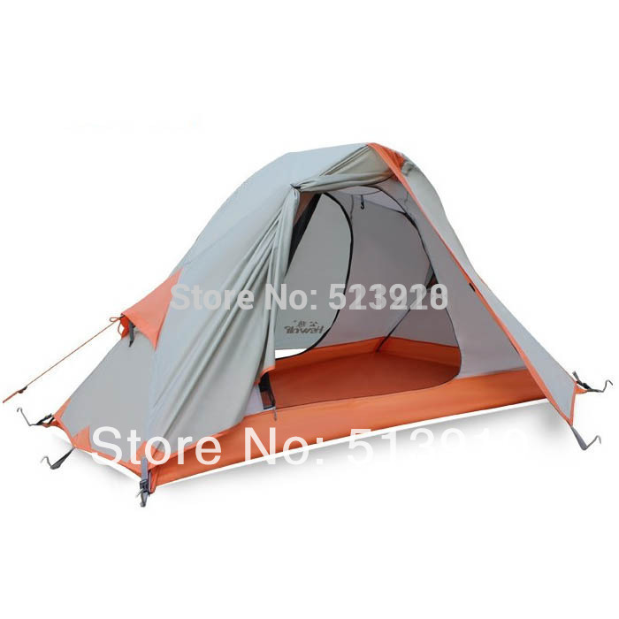 2016 Hewolf Single person double layer ultra light anti rain beach fishing hiking cycling mountaineering outdoor camping tent alpika 3 4 person 2 layer 1 bedroom 1 living room anti rain wind proof frp rod party hiking fishing beach outdoor camping tent