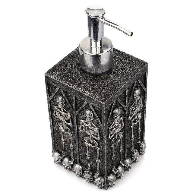 1pc Skull Shower Gel Dispenser Bottle Liquid Soap Dispenser Pump Hand Sanitizer Shampoo Lotion Bottle with Dispenser 450ml 2