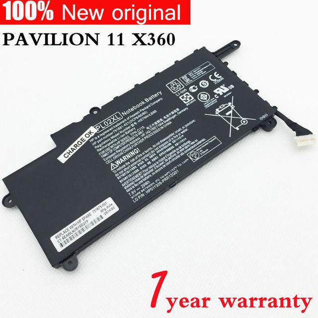 Original PL02XL Laptop Battery for HP PAVILION 11 X360 SERIES 11-n010dx HSTNN-LB6B TPN-C115 751681-421(21CP6/60/80) 751875-001