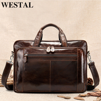 WESTAL genuine leather bag for Luggage men Duffle Bag Suitcase Carry on Luggage Big Weekend Bags Travel bags for men 7320