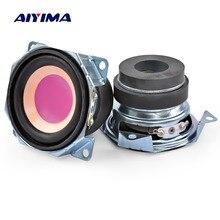 AIYIMA 2Pcs 2Inch 4Ohm 3W Full Range Audio Speakers 52MM Paper Edge Mini Bluetooth Speaker Diy Home Theatre