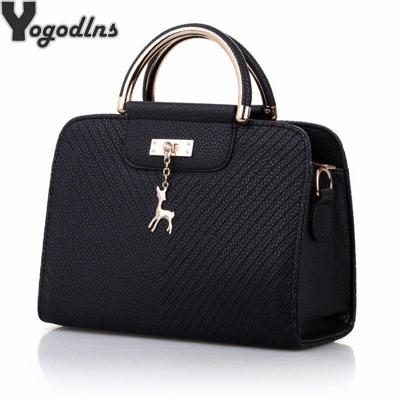 632902d4e9e1 Модная сумка 2019 Новая женская кожаная сумка большая емкость сумки на плечо  Повседневная сумка простые сумки с ручкой сверху декор в виде ол.