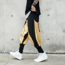 2018 New Hip-hop Show Haren Pants joggers hip hop pantalon hombre homme streetwear calca masculina Free shipping Fashion Best